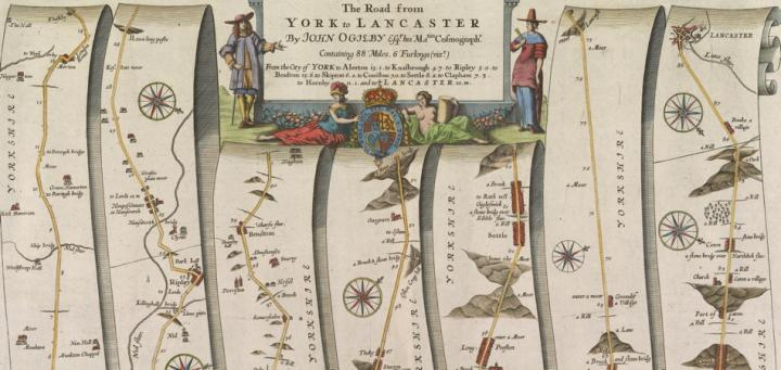 Map Of England Showing York.Osher Map Library